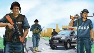 Animation of the Nigerian Police Anti-Robbery Squad
