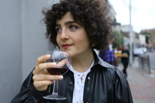 Gilda Bruno enjoys an evening out