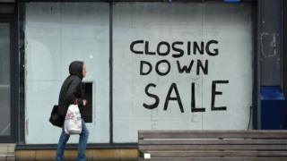 Closed down shop in Sunderland
