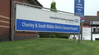 Chorley and South Ribble Hospital sign