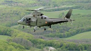 File pic of Belgian Agusta A-109 helicopter