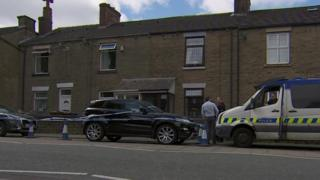 Crime scene on Upholland Road