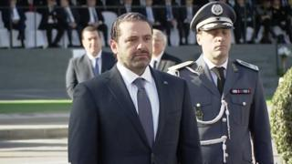 Hariri at the independence day ceremony