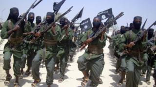 Al-Shabab fighters in somalia