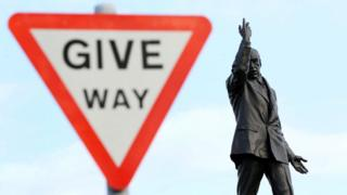 Give way sign at Stormont