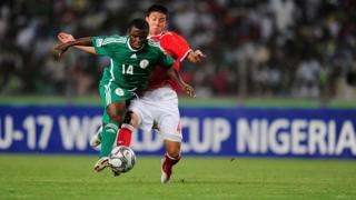 Nigeria Golden Eaglets player and Switzerland player for Abuja National stadium, 2009
