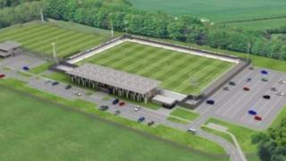 Artist's impression of Cambridge City FC at Sawston