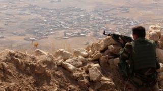 Kurdish forces in northern Iraq. 6 Aug 2015