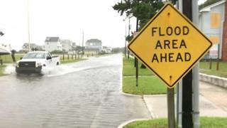 Затопленная улица в США