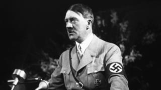 Adolf Hitler speaking at Nuremberg rally, 1936