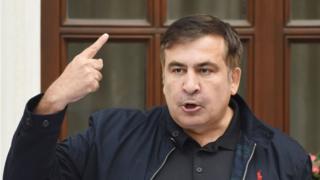 Прорыв Саакашвили на территорию Украины привлек к нему внимание как в Украине, так и в Грузии