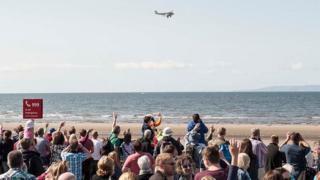 Plane flying at Scottish Airshow