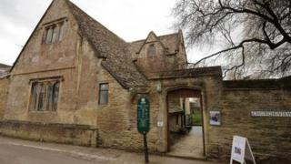 Bampton Village Library, which is used as the location for Downton Cottage Hospital