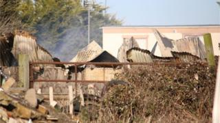 Fire at Elmwood Equestrian Centre