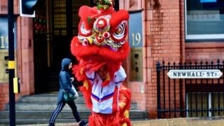 A Chinese lion in Newhall Street