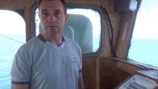 """Капітан судна """"ЯМК-0041"""" Віктор Новицький"""