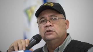 Executive Secretary of the Pro Human Rights Nicaraguan Association (ANPDH) Alvaro Leiva delivers a press conference in Managua, Nicaragua, 11 July 2018