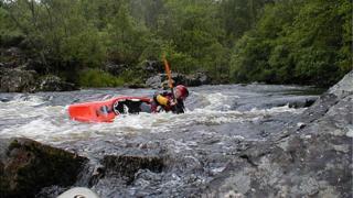 Kayak on River Tummel