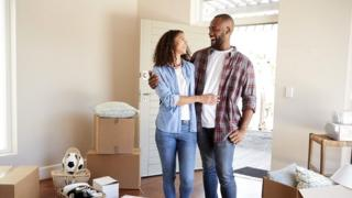 Couple move into new home