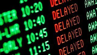Flight delay screen