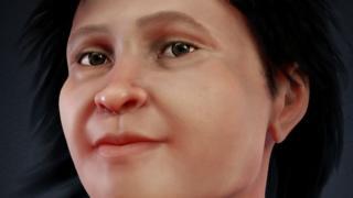 A face reconstituída em 3D de Eva de Naharon