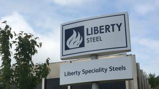 Liberty Steel sign