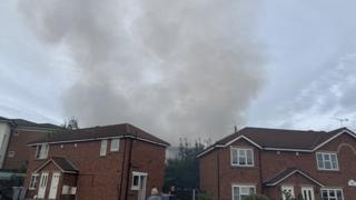 Smoke seen over Rolls Avenue