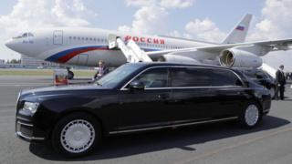 La limusina presidencial de Rusia en Helinki
