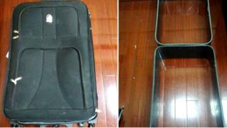 Suitcase in police handout