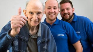 Michael Base, 72, and the two Betfred workers