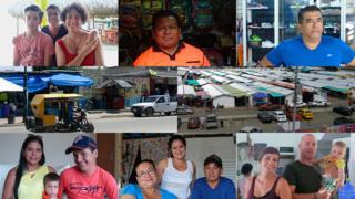 Collage de damnificados en Ecuador