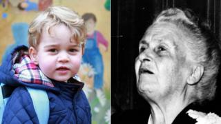 Prince George and Maria montessori