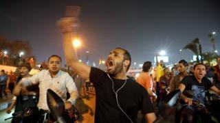 متظاهرون في القاهرة