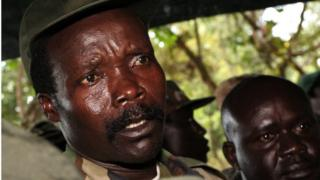 A file photo taken on November 12, 2006, shows the leader of the Lord's Resistance Army (LRA), Joseph Kony, answering journalists questions in Ri-Kwamba, southern Sudan