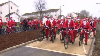 Santas on South Bristol Link Road