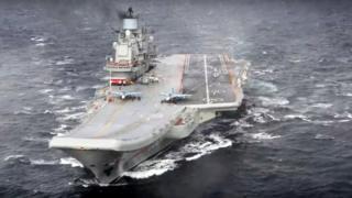 """Авіаносець """"Адмірал Кузнєцов"""" очолює російську морську флотилію"""