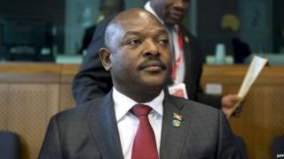 Rais wa Burundi Pierre Nkurunziza