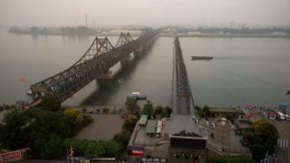 Bridge over the Yalu river near Dandong