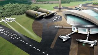 Artist impression of aerospace centre