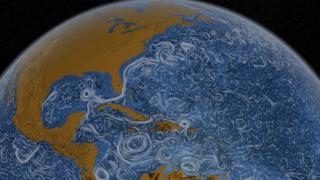 กระแสลมที่เริ่มพัดรุนแรงขึ้นตั้งแต่เมื่อ 20 ปีก่อน ได้ถ่ายทอดพลังงานจลน์ให้กับมหาสมุทรเพิ่มขึ้นด้วยเช่นกัน