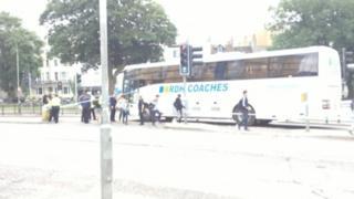 Coach collision in Brighton