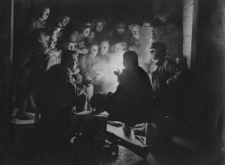 Trincheira de soldados ingleses na Primeira Guerra Mundial