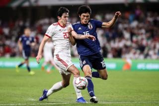 مسابقه فوتبال بین ایران و ژاپن در جام ملتهای آسیا
