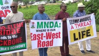 Eleme-Akpajo bridge: Rivers lawmakers protest for goment to start work