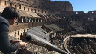James Reynolds at the Colosseum