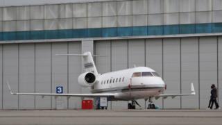 El avión accidentado era un jet Bombardier 601 Challenger similar a este.