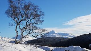 Walking up to Loch Sloy, with Ben lomond in the background. Taken by Stephen Docherty