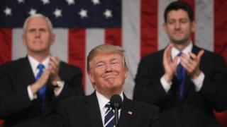 Президент США Дональд Трамп в конгрессе США