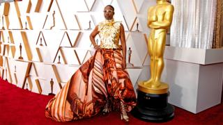 in_pictures Billy Porter on the red carpet wearing a dress