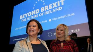 Sinn Féin president Mary Lou McDonald and vice-president Michelle O'Neill